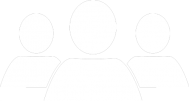 Icon of three people head and shoulders indicating Teamwork